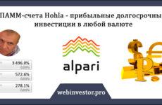 ПАММ-счёт Hohla — прибыльные долгосрочные инвестиции в любой валюте