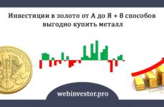 Инвестиции в золото: 7 способов вложить деньги + прогноз на 2019 год